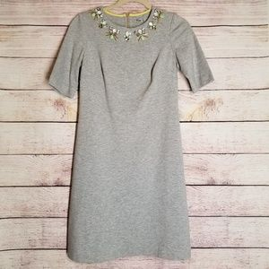 Eliza J grey womens rhinestone dress size 4